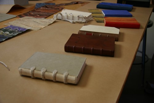 Samples of bound books