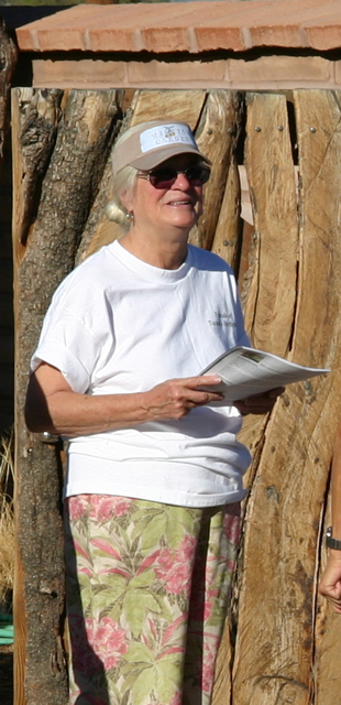 Diana Hadley, an active supporter of the Mission Garden project