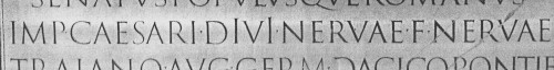 line from the Trajan inscription