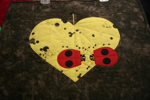 This lady bug quilt is one of Sandra's Charley Harper quilts.