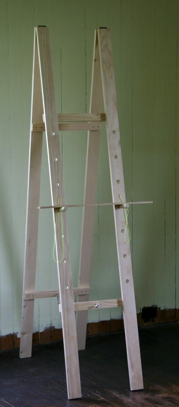 finished handmade easel