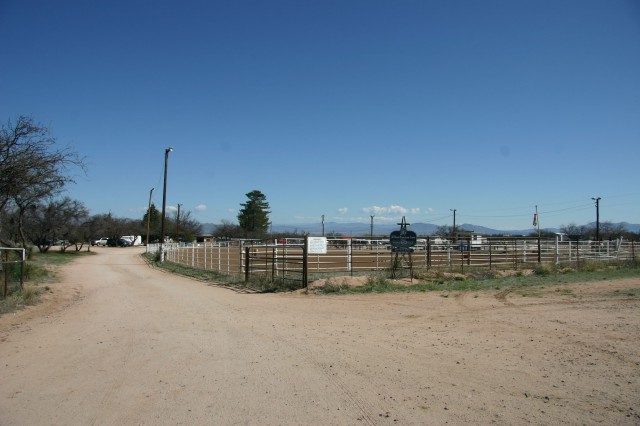 Entrance to the J-Six Ranch Equestrian Center